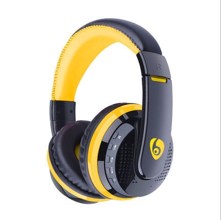 KiliFun Collection OVLENG MX666 Wireless Bluetooth Stereo Headset Headphone Support FM TF AUX yellow
