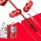 KiliFun Collection Z4 Earbuds/Earphone Stereo 3.5mm wired control with mic and button red