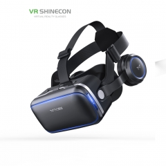 KiliFun Collection VR Shinecon Brand 3D VR Glasses Virtual Reality 360 Surrounded Hi-Fi Stereo Black 300 inch Display 415g