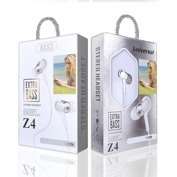 KiliFun Collection Z4 Earbuds/Earphone Stereo 3.5mm wired control with mic and button white