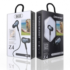 KiliFun Collection Z4 Earbuds/Earphone Stereo 3.5mm wired control with mic and button black