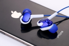 KiliFun Collection Z4 Earbuds/Earphone Stereo 3.5mm wired control with mic and button blue