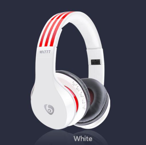 KiliFun Collection TUCCI TC777 Hifi Headphone Wireless Headband HandFree Headset With FM/TF/AUX white