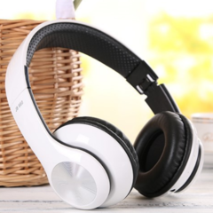 KiliFun Collection TUCCI TC999 Wireless Bluetooth Stereo Headphone Foldable Mic MP3 FM Headset white