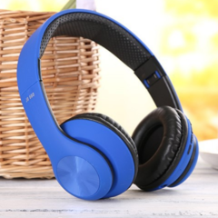 KiliFun Collection TUCCI TC999 Wireless Bluetooth Stereo Headphone Foldable Mic MP3 FM Headset blue