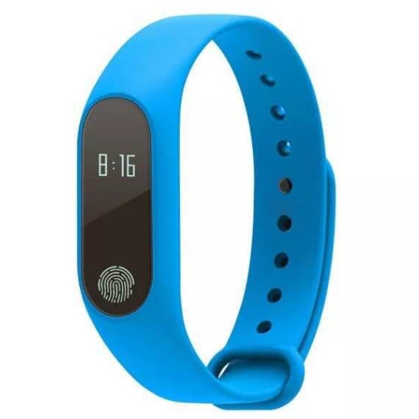 KiliFun Collection M2 Smart Healthy Recorder Bluetooth Waterproof Watch Band/Bracelet blue one size