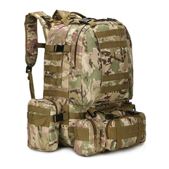 KiliFun Collection B08 Oxford Wear-resistant Outdoor Backpack Army Camouflage Luggage Big Bag CP COLOR 50L