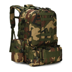 KiliFun Collection B08 Oxford Wear-resistant Outdoor Backpack Army Camouflage Luggage Big Bag JUNGLE CAMOUFLAGE 50L