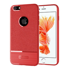 KiliFun Collection Soft Shockproof Ultra Thin Litchi Hybrid tpu case cover for Iphone 6s red iphone 6s