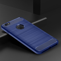 KiliFun Collection Luxury Soft TPU Rubber Drawing Carbon Fiber Shockproof  Case for iphone6 blue iphone 6