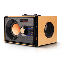 KiliFun Collection Haoyes Brand V200 Home Theatre Stereo Bluetooth Wooden Subwoofer Loudspeaker wooden 5W*1+3W*2 V200