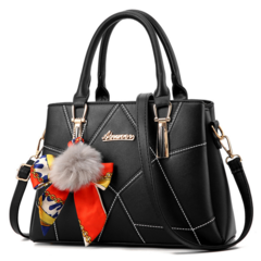 KiliFun Collection PU Fashion Colorful Waterproof Shopping Handbags Ladies Satchel Shoulder Bags black one size
