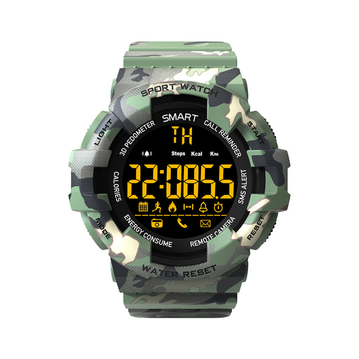 KiliFun Collection EX16M Camouflage Military Sports Waterproof Outdoor Multifunction Smart Watch Camouflage green one size