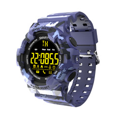 KiliFun Collection EX16M Camouflage Military Sports Waterproof Outdoor Multifunction Smart Watch camouflage blue one size