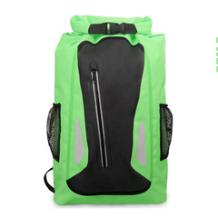 KiliFun Collection 25L Outdoor Zipper Bottle Mesh Pocket PVC Waterproof Ocean Pack Dry Bag Backpack green 25l