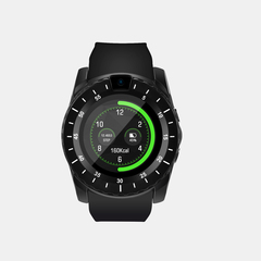 KiliFun Collection V88 Smart Watch Sport Fitness Heart Rate Camera and Sim Card Slot black one size