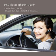 KiliFun Collection BM60 Bluetooth Mini Mobile Phone MTK6261D Wireless Sports Phone black