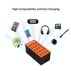 KiliFun Collection A9 20 Port USB HUB High Power Fast Charging Station for PC Tablet Smartphone as picture 142 x 70 x 65mm