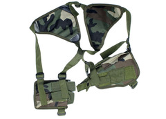 KiliFun Collection Outdoor Tactical Universal Hidden Shoulder Pistol Holster with 2 magazine Pouch green
