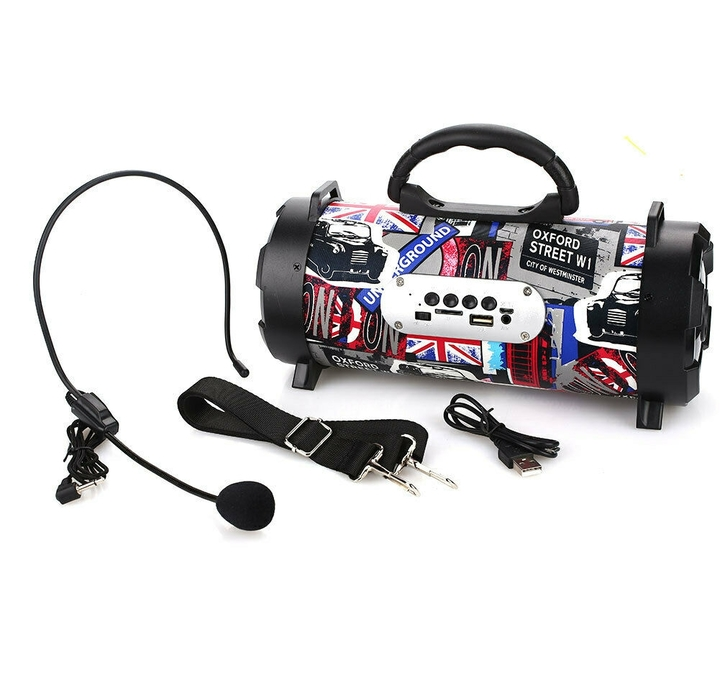 KiliFun Collection Backpack Portable Bluetooth Loudspeaker with Headband Microphone/Colorful Light Oxford 5w K07