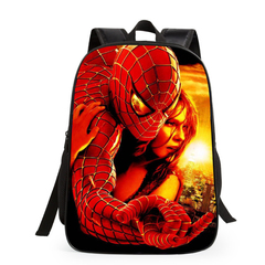KiliFun Collection New Style Batman Spiderman School Bag For Kids Backpack Color 1