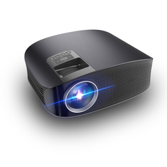 KiliFun Collection YG600 Home/Office Projector LED HD 1080P Portable Business/Entertainment Black 31*24*12cm