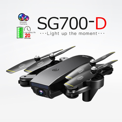 KiliFun Collection SG700-D Folding Drone Optical Flow Quadcopter Dual Camera Aerial Aircraft Black 1080P Camera+2 Batteries
