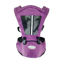 KiliFun Collection COOLBABY Baby Carrier Multifunctional Baby Hip Seat Kids Ergonomic Purple Two in One Combination
