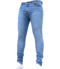 KiliFun Collection 1083 Men's Tight-fitting Stretch Denim Pants/Jeans Slim Fit Trousers light blue s