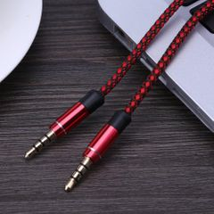 KiliFun Collection 100CM 3.5mm Male To 3.5mm Male Audio Cable Car AUX Auxiliary Wire black+red