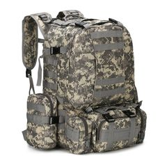 KiliFun Collection B08 Oxford Wear-resistant Outdoor Backpack Army Camouflage Luggage Big Bag acu color 32*34*50cm