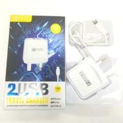 KiliFun Collection TITAN TC-202W 5v 2,4A Dual 2USB Port+Micro Port Quick Fast Charger white one size