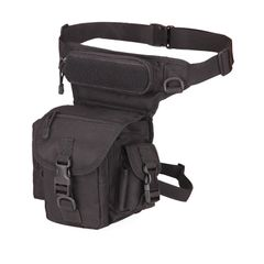 KiliFun Collection A90 Multi-purpose Tactical Bag Outdoor Military Waist Leg Bag Traveling black 12*11*30cm