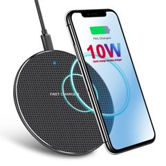 KiliFun Collection Ultra-Thin Crystal K8 Wireless Charger Fast Charge Base Transmitter Black 10W
