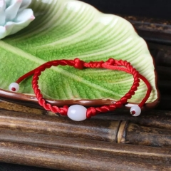 2018 pure hand woven jadeite jade bracelet bracelets braces bracelet men women Gift Red one bracelet adjustable