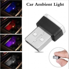 USB 5 Colors LED Mini Light Car Interior   Light Mini Gifts Lighting Kit Atmosphere Interior Light red approx. 20 x 15mm