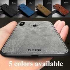 Sweatproof Cloth Pattern Deer Coque Case For Samsung galaxy Note 9 s8  Phone Cover Accessories Black iPhone X, iPhone Xr, iPhone Xs, iPhone Xs Max 2.
