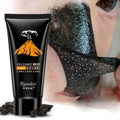 Women Lava Blackhead Black Mud Deep Cleansing Purifying Peel Off Facail Face Mask Fashion as shown