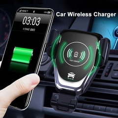 Car Gravity Mount Qi Wireless Charger For iPhone for tecno for Samsung for Huawei for xiaomi black 1 x Wireless Charger 1 x Air Vent Mount 1 x Dashbo