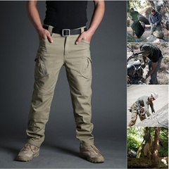 Men  Tactical Military Cargo Pants Outdoor  Hiking Pants Trousers Combat Multi-pockets Pants khaki xs