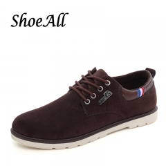 ShoeAll 1 Pairs Light Quality Casual Rubber Sole Sneakers Men Shoe Dark brown 39