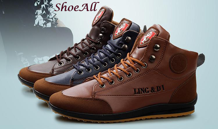 ShoeAll 1 Pair Men Casual Sneakers Loafers Fashion Quality Men Shoe Brown 39 1