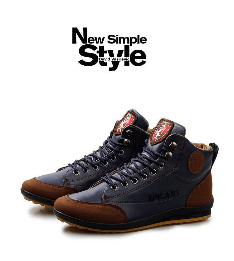 ShoeAll 1 Pair Men Casual Sneakers Loafers Fashion Quality Men Shoe Brown 39 8