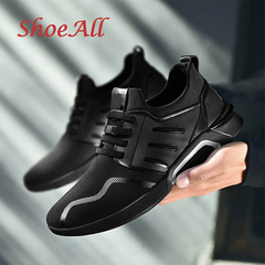 ShoeAll 1 Pair Quality Casual sports Rubber sport Sole Men Shoes black 44