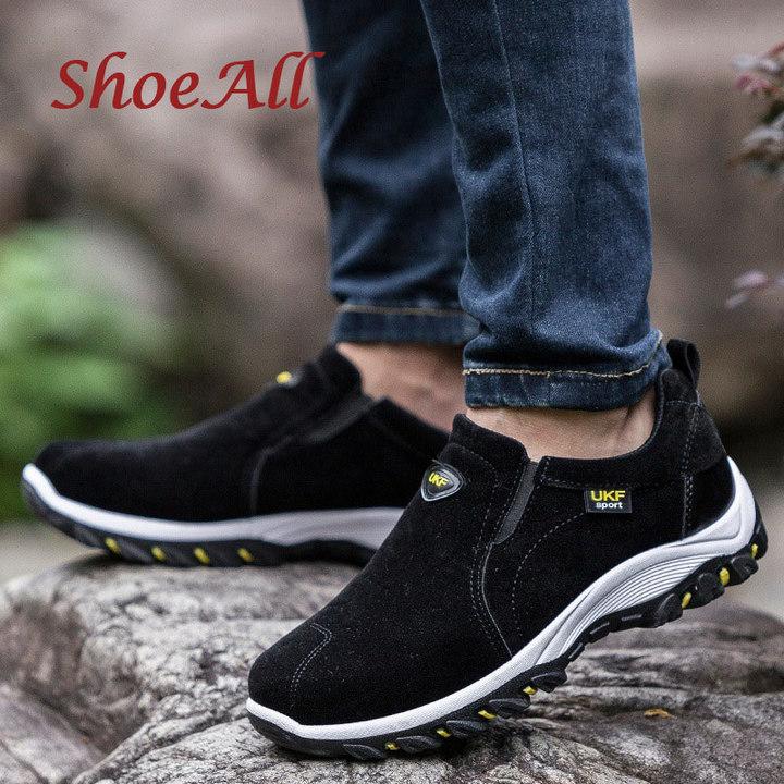 ShoeAll 1 Pair Quality Men Sneakers Casual Sports outdoor Sole Men Shoe black 39