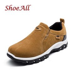 ShoeAll 1 Pair Quality Men Sneakers Casual Sports outdoor Sole Men Shoe Brown 39