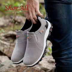 ShoeAll 1 Pair Quality Men Sneakers Casual Sports outdoor Sole Men Shoe grey 39
