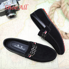 ShoeAll 1 Pair Quality Men Casual Loafers Rubber Flat Sole Men Shoes Black 39
