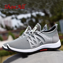 ShoeAll 1 Pair Quality Casual sports Rubber sport Sole Men Shoes grey 39
