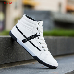 ShoeAll 1 Pair Men Casual Sneakers Loafers Fashion Quality Men Shoe white 40